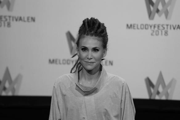 """Artisten Mariette är med i Melodifestivalen 2018, som en av favoriterna. Hon tävlar med låten """"For You"""" i Örnsköldsvik. Foto: Peter Ahlborg"""