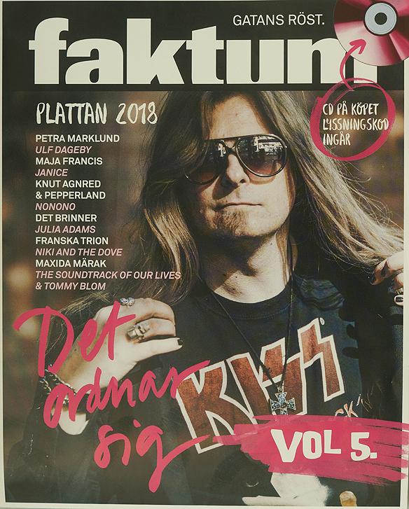 Peter Ahlborg pryder omslaget till Faktum-plattan vol 5, det ordnar sig. Foto: Avfotografering av omslaget Peter Ahlborg