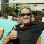 Peter Ahlborg träffar Iron Maidens trummis Nicko Mcbrain