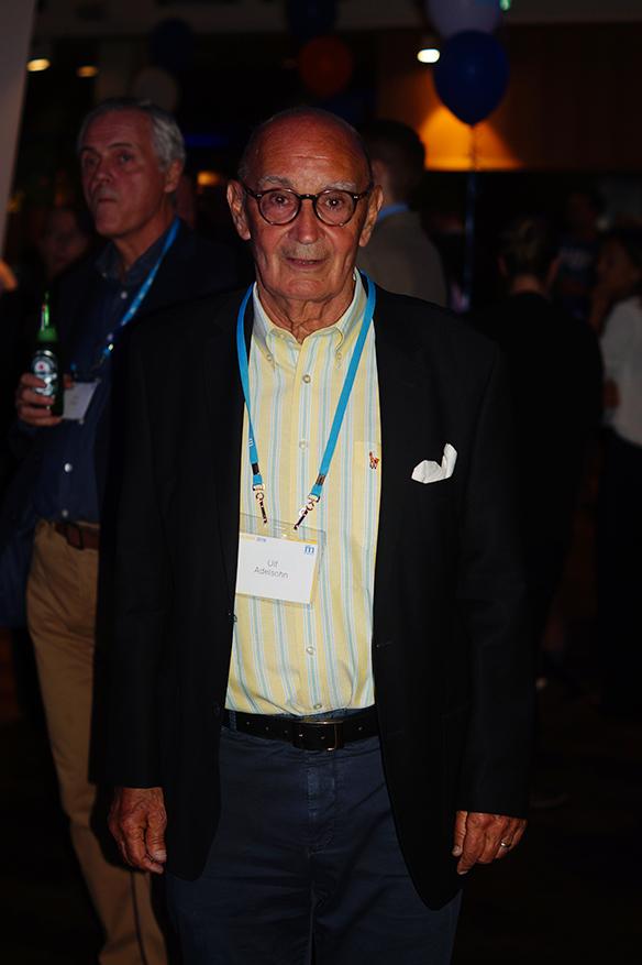 Ulf Adolfsson på Moderaternas valvaka. Foto: Peter Ahlborg