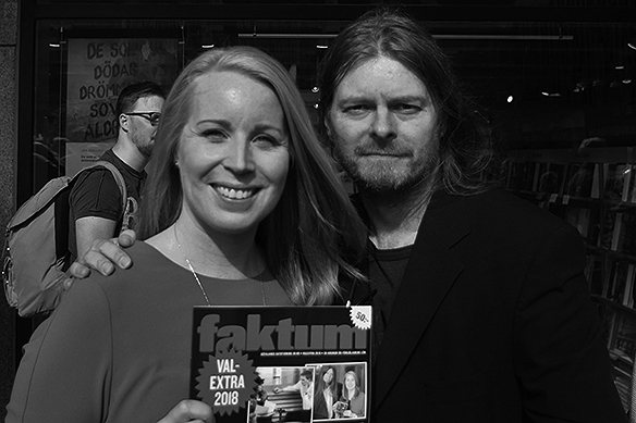 Annie Lööf och Peter Ahlborg.