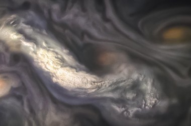 Swirling clouds from a gas giant