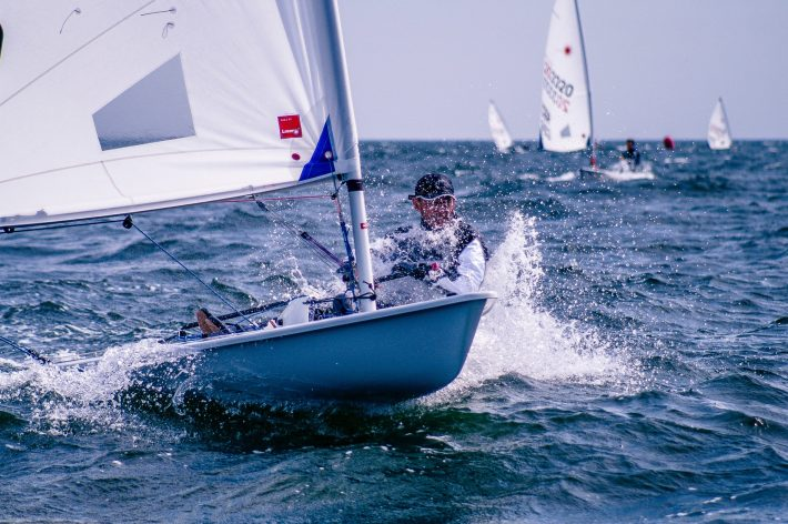 A sailor competing.