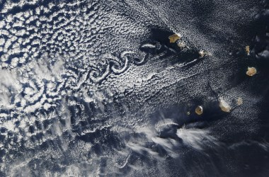 Von Karman vortices off the islands of Cabo Verde.