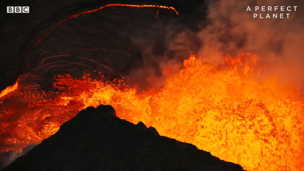 Lava fountains up during the 2018 eruption of Kilauea.
