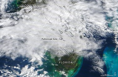 Fallstreak holes over Florida in January 2021.