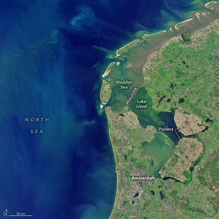 The Netherlands are protected from the sea by a series of natural and manmade bulwarks.