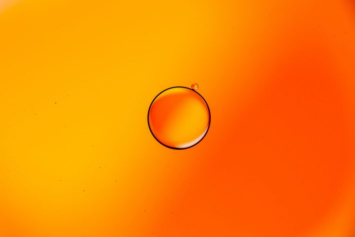 Water droplets in oil can self-propel using the Marangoni effect.