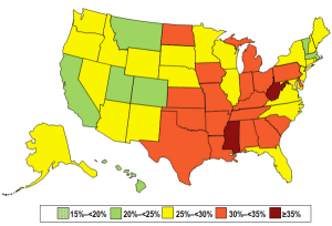 2013-state-obesity-prevalence-map