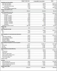 Demographics & Lifestyle Analysis  Downtown Market Analysis