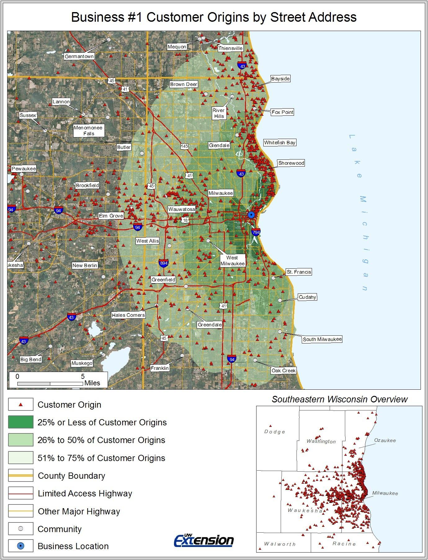 Example Of Customer Origin By Street Address