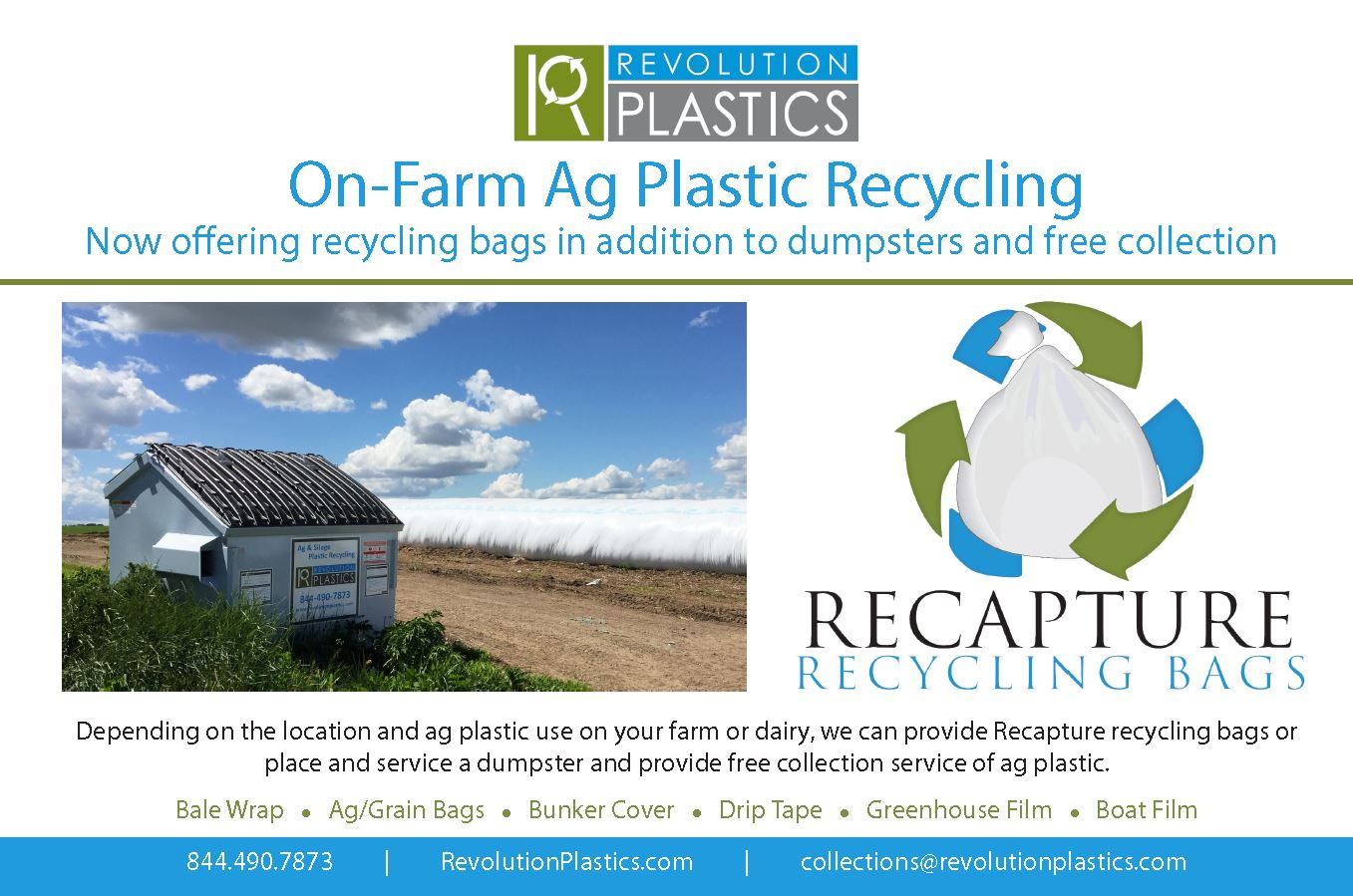 On Farm Ag Plastic Recycling Now Offering Recycling Bags