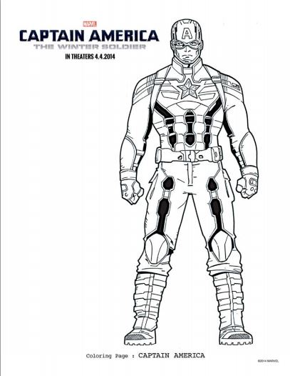 Captain America Coloring Pages & Activities Pages • FYI by