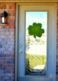 St. Patrick's Day Shamrock Door Decoration