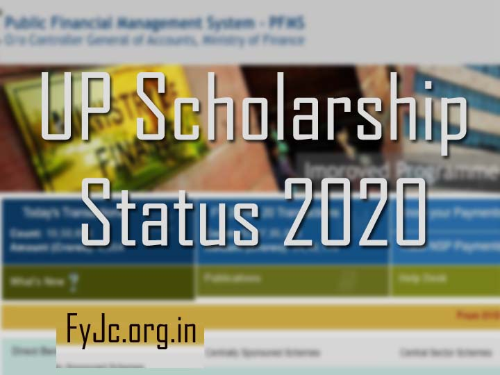 Pfms scholarship.up.nic.in