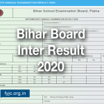 Bihar Board Inter Result 2020 Onlinebseb.in
