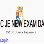 SSC JE New Exam Date