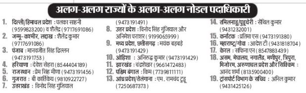 Bihar Nodal Officer Contact Number Image Source- E Prabhat Khabar Date 02 May 2020