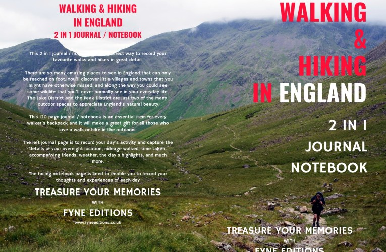 Walking & Hiking in England – 2 in 1 Journal & Notebook