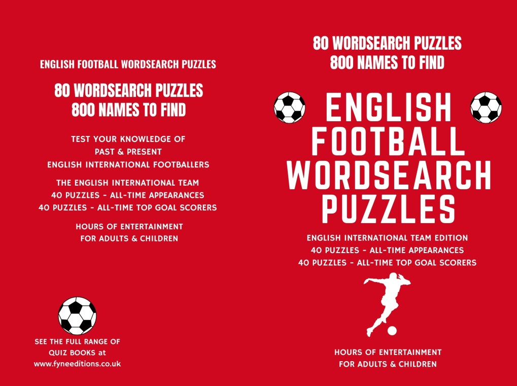 English Football Word Search Puzzle Book Cover