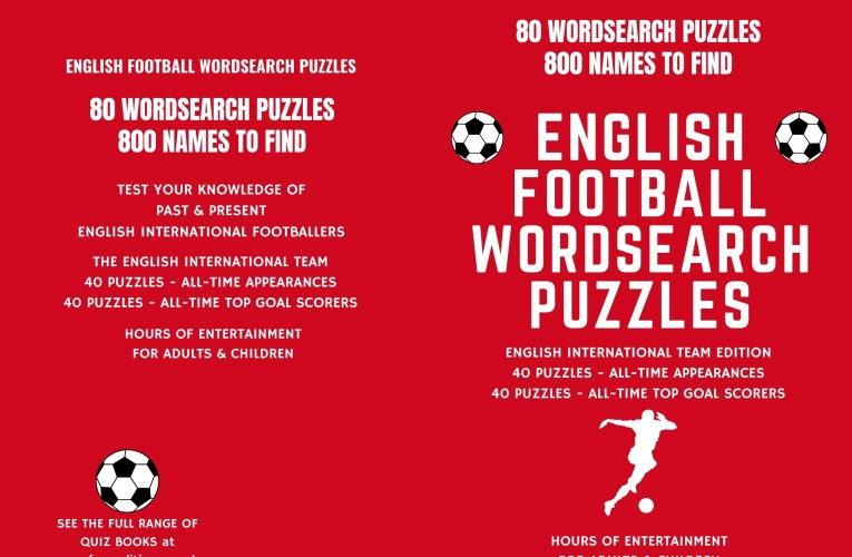The Best English Football Word Puzzle Book – Hours of Entertainment