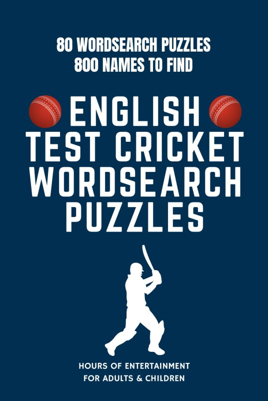 English Test Cricket Wordsearch Book
