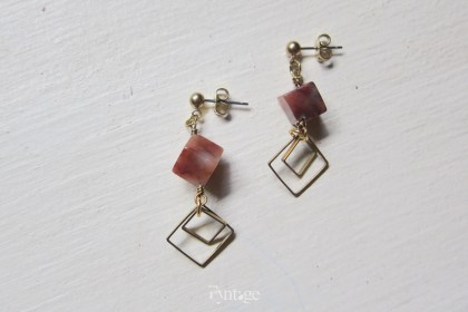 CARNELIAN GEOMETRY EARRINGS