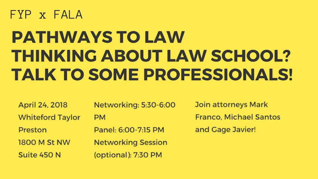 Pathways to Law Series with FALA-DC
