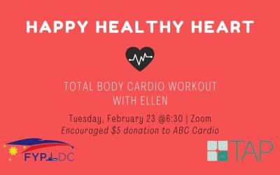 Event: TAP-DC: Total Body Cardio with Ellen – February 23, 2021