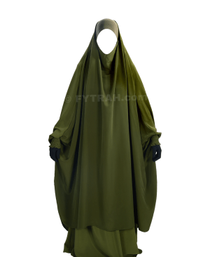 Integrated beanie Jilbab Green Khaki