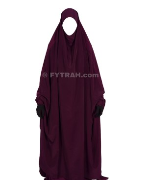 Jilbab bonnet integrated Purple