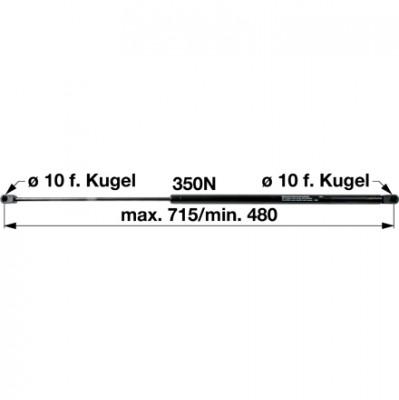 Gasdruckfeder 0.010.1579.0 zu Same