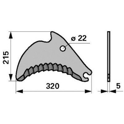 Messer 16650699 zu Deutz-Fahr