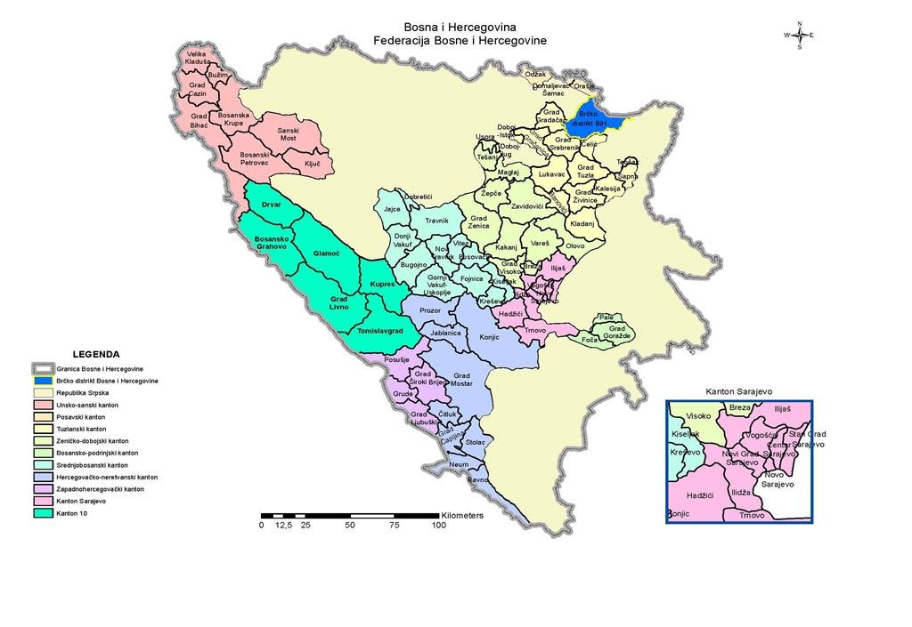 Hercegovine I Bosne Karta Hrvatske I