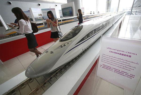 中国鉄路高速が、タイで展示会の行った際の模型