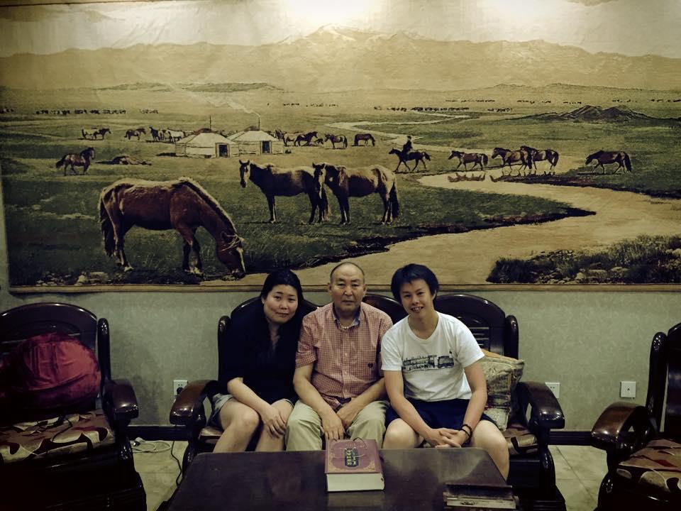 airbnbしたモンゴル人家族と