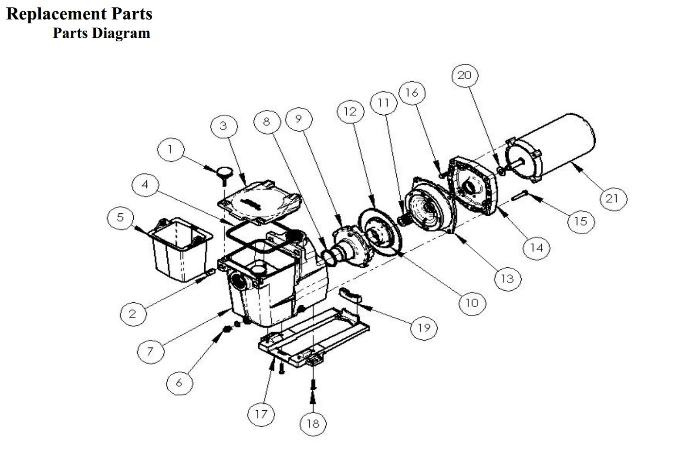 Motor Parts: Ao Smith Motor Parts Diagram
