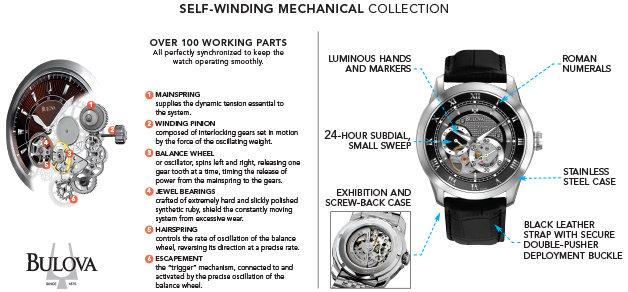 Amazon.com: Bulova Men's 96A135 BVA-SERIES 120 Automatic