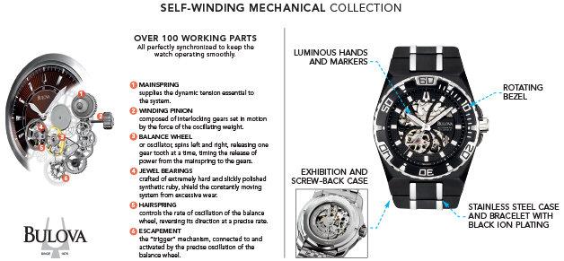 $> Bulova Men's 98A108 Marine Star Mechanical Hand-Wind