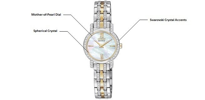 Amazon.com: Citizen Women's EX1244-51D Eco-Drive Watch