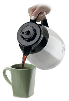 dtc975bkn carafe pour 285px - Cuisinart DTC-975BKN Thermal 12-Cup Programmable Coffeemaker, Black