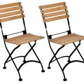 Designhouse 5504t bk handcrafted french bistro european cafe folding