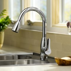 No Touch Kitchen Faucet Buffet For American Standard 4175.300.002 Colony Soft Pull-down ...