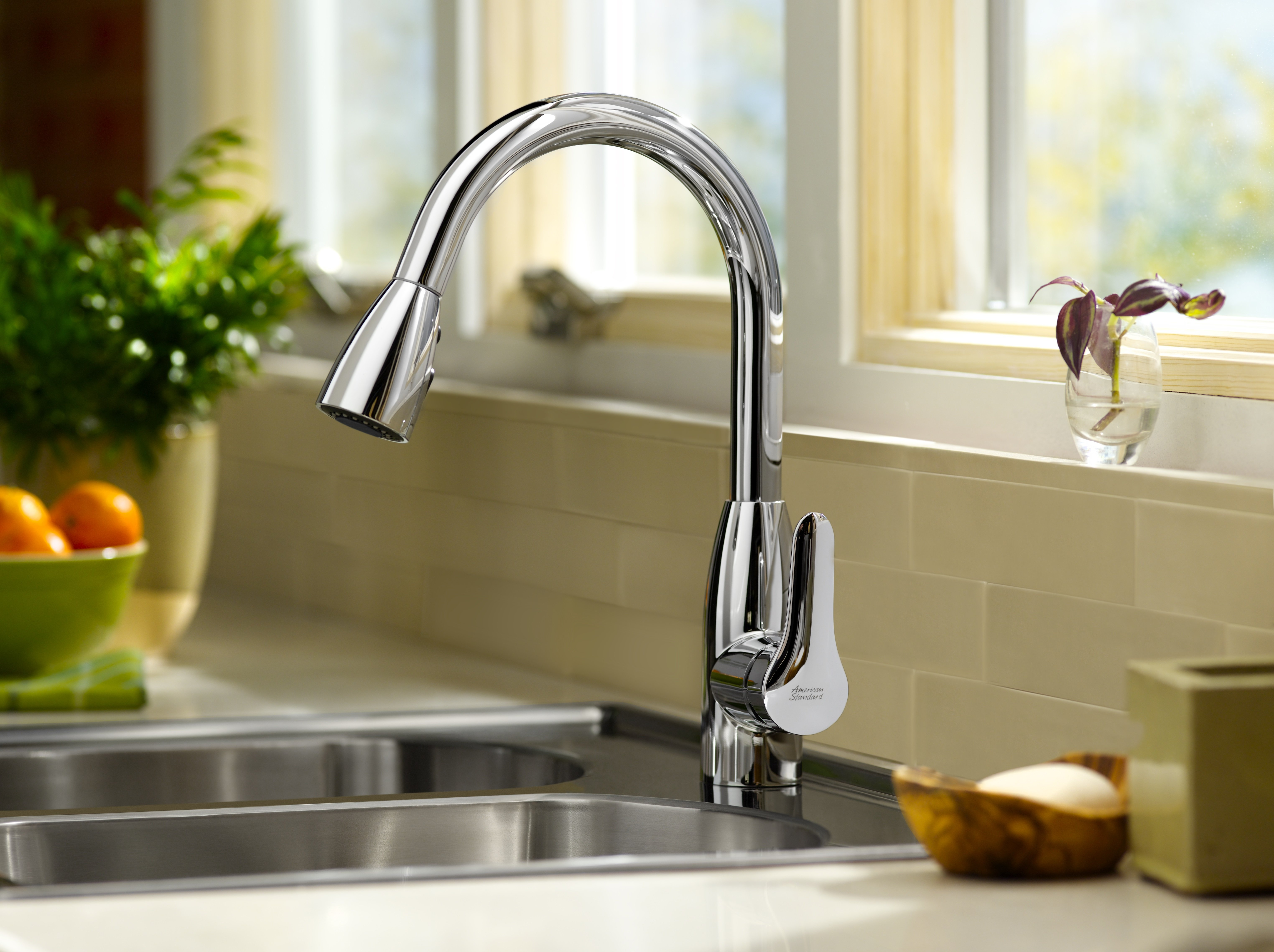 high flow rate kitchen faucets hansgrohe axor starck faucet american standard 4175.300.075 colony soft pull-down ...