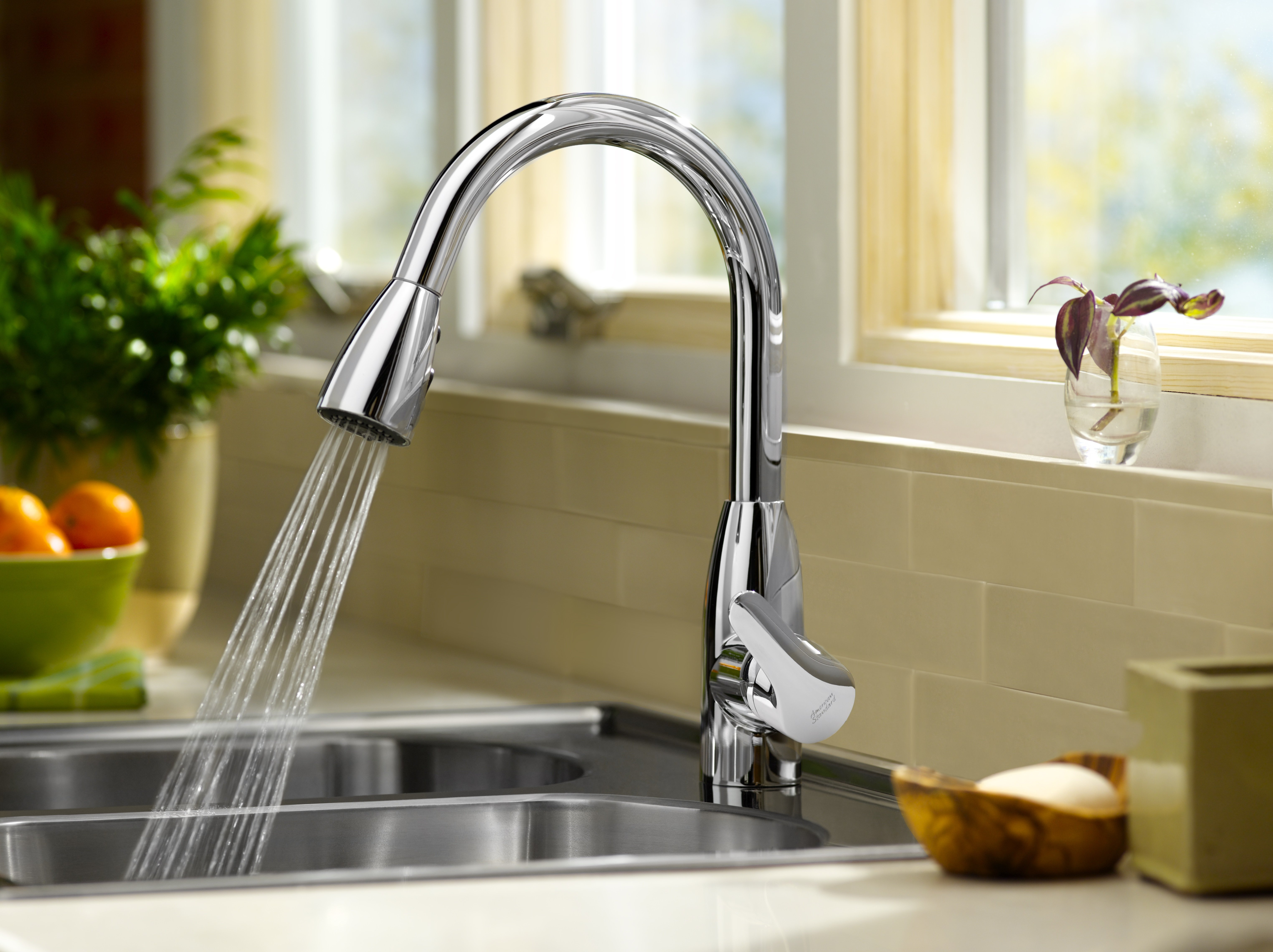 polished brass kitchen faucets how much is cabinet installation american standard 4175.300.002 colony soft pull-down ...