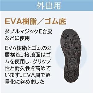 Amazon.co.jp: あゆみシューズ ダブルマジック2 合皮 黒 LLサイズ(24.0~24.5cm) 足囲3E 片足(右足) [外出用] 介護 ...
