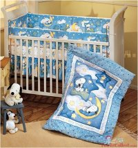 Baby Stores: Sleepytime Baby Snoopy 3 Piece Crib Bedding Set