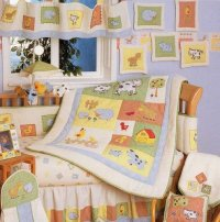 Baby Stores: Barnyard 6 Piece Crib Bedding Set, by Kidsline