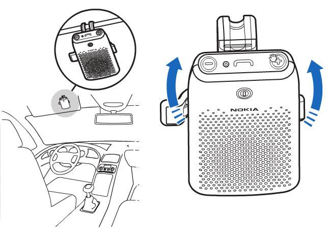 NOKIA 诺基亚 HF-210 蓝牙车载免提 NOKIA 诺基亚 手机\通讯,手机配件,存储卡\数据线, 亚马逊