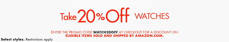 Amazon 20% OFF Watch Sale